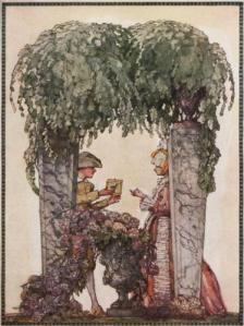 Gardners Gift by Konstantin Somov, 1914, public domain.